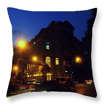 Throw Pillow featuring the photograph Night View by Salman Ravish