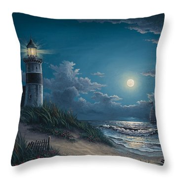 Throw Pillow featuring the painting Night Watch by Kyle Wood