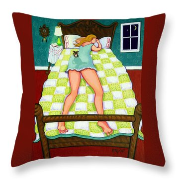 Chihuahua - Night Watch Throw Pillow by Rebecca Korpita