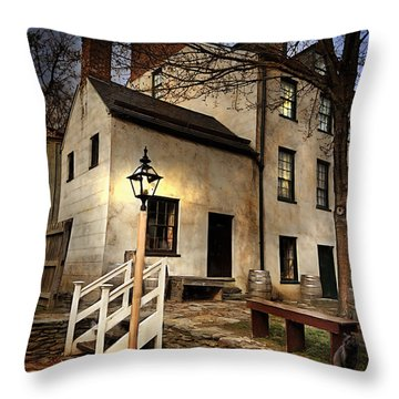 Throw Pillow featuring the digital art Night Watchman by Mary Almond