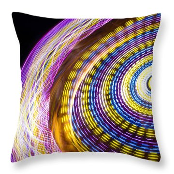 Night Zipper Throw Pillow