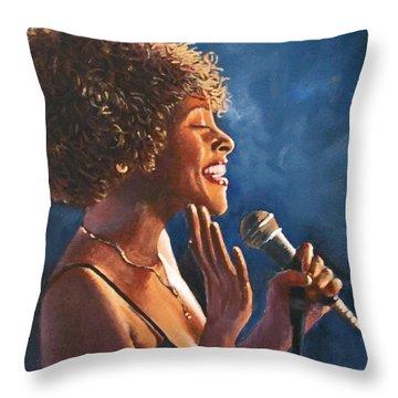 Nightclub Singer Throw Pillow
