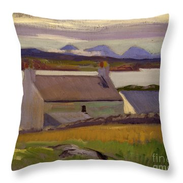 Nightfall  Iona Throw Pillow by Francis Campbell Boileau Cadell