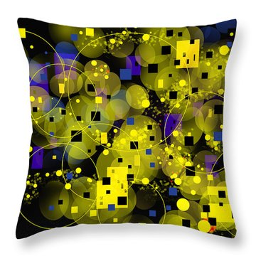 Throw Pillow featuring the digital art Nightfall by Lena Wilhite