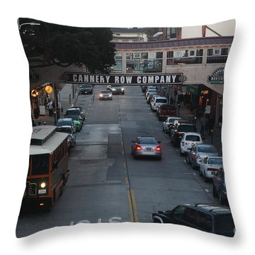 Nightfall Over Monterey Cannery Row California 5d25143 Throw Pillow