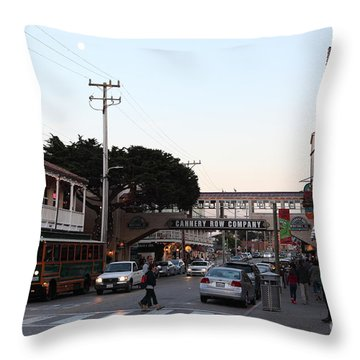 Nightfall Over Monterey Cannery Row California 5d25144 Throw Pillow