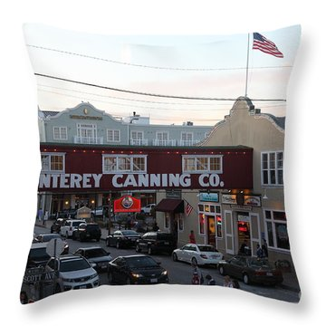 Nightfall Over Monterey Cannery Row California 5d25148 Throw Pillow