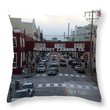 Nightfall Over Monterey Cannery Row California 5d25149 Throw Pillow