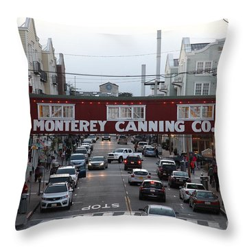 Nightfall Over Monterey Cannery Row California 5d25153 Throw Pillow