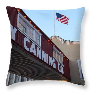 Nightfall Over Monterey Cannery Row California 5d25163 Throw Pillow