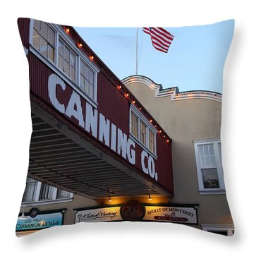 Nightfall Over Monterey Cannery Row California 5d25164 Throw Pillow