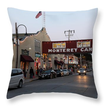 Nightfall Over Monterey Cannery Row California 5d25167 Throw Pillow