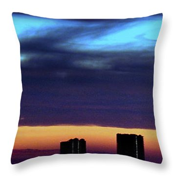 Throw Pillow featuring the photograph Nightfall Over Pensacola Beach by Faith Williams