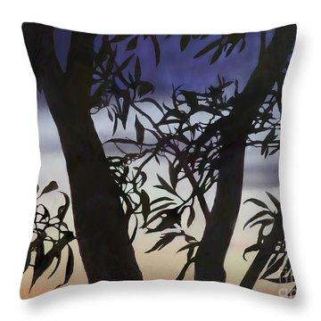 Throw Pillow featuring the digital art Nightfall by Ursula Freer