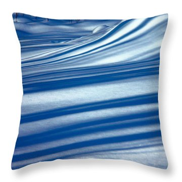Nightime On The Snowbank Throw Pillow by Susan Crossman Buscho