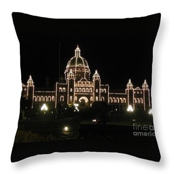 Nightly Parliament Buildings Throw Pillow