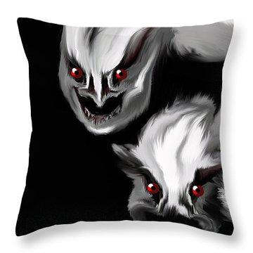 Nightmare Companions Throw Pillow
