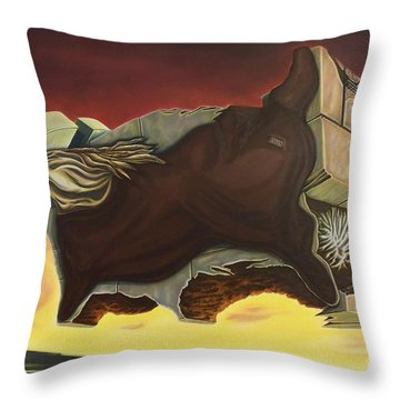 Nightmare Of An Over-inflated Workhorse Throw Pillow
