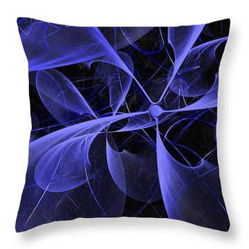 Throw Pillow featuring the photograph Nights In Blue Satin by Martina  Rathgens