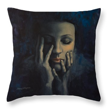 Nights In July Throw Pillow by Dorina  Costras