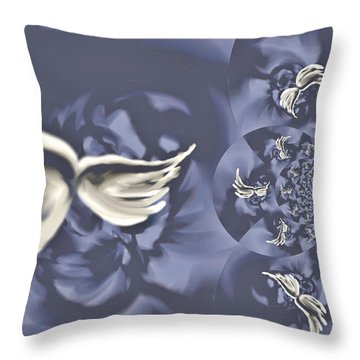 Nights In White Satin Throw Pillow by Absinthe Art By Michelle LeAnn Scott