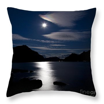 Nights In White Satin Throw Pillow by Heiko Koehrer-Wagner