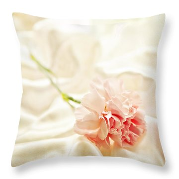 Nights In White Satin Throw Pillow by Theresa Tahara