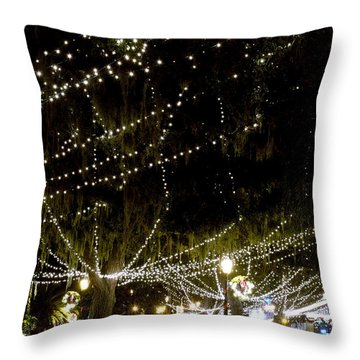 Nights Of Light 2 Throw Pillow by Kenneth Albin