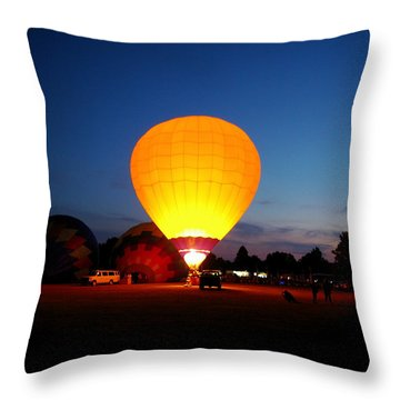 Night's Sunshine Throw Pillow