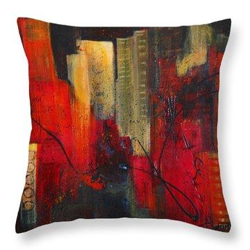 Nightscape Throw Pillow by Roberta Rotunda