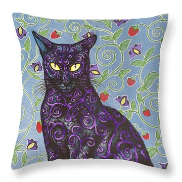Nightshade Throw Pillow by Beth Clark-McDonal