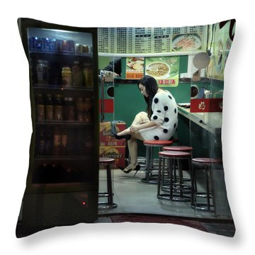 Throw Pillow featuring the photograph Nightshift by Michel Verhoef