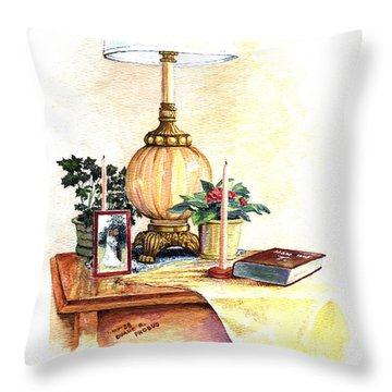Nightstand Throw Pillow