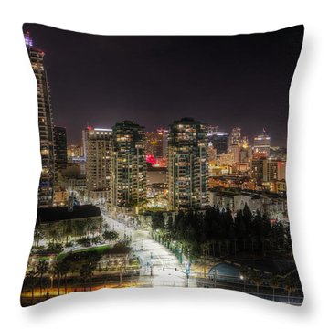 Throw Pillow featuring the photograph Nighttime by Heidi Smith