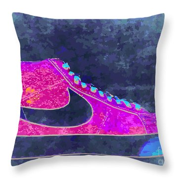 Nike Blazer 2 Throw Pillow by Alfie Borg