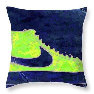 Nike Blazer 3 Throw Pillow by Alfie Borg