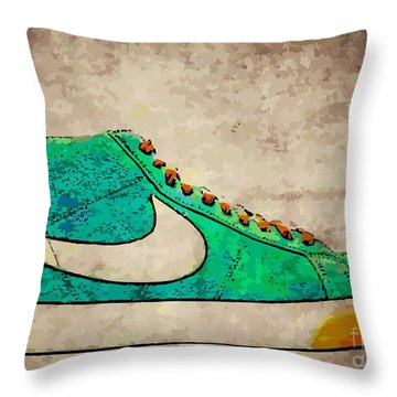 Nike Blazers Throw Pillow by Alfie Borg