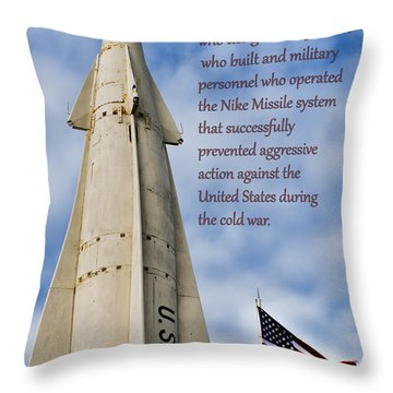 Nike Missile Thanks Throw Pillow