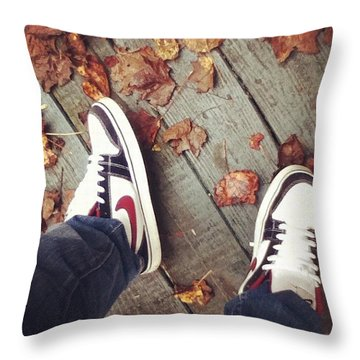 Nike's On My Feet Throw Pillow