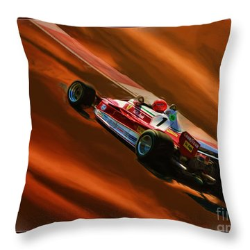 Niki Lauda's Ferrari Throw Pillow