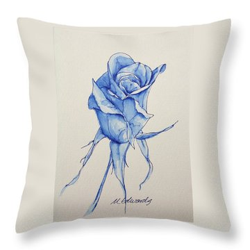 Niki's Rose Throw Pillow