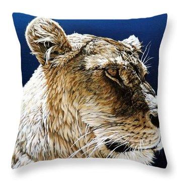 Nikka Throw Pillow by Linda Becker