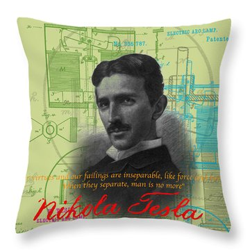 Nikola Tesla #3 Throw Pillow