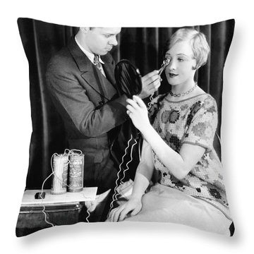 Nilsson Gets Lashes Curled Throw Pillow