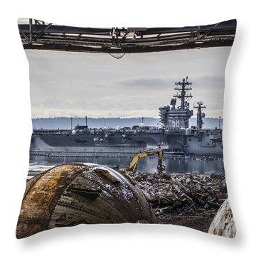 Nimitz - Port Of Everett Throw Pillow