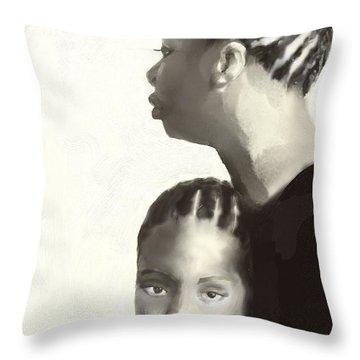 Nina And Lisa Simone Throw Pillow