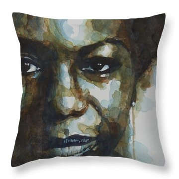 Nina Simone Ain't Got No Throw Pillow