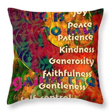 Nine Gifts Throw Pillow by Chuck Mountain