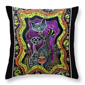Nine Lives     Throw Pillow