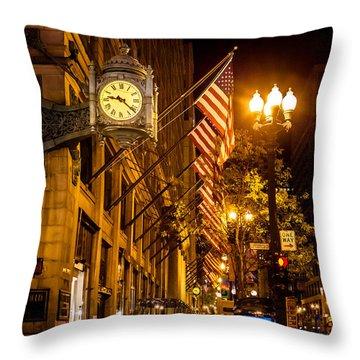 Nine Twenty Two Throw Pillow by Melinda Ledsome